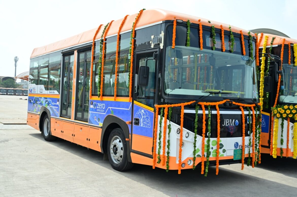 JBM's ECO-LIFE Electric Air-Conditioned city buses launched by Shri Vijay Rupani, Hon'ble Chief Minister of Gujarat